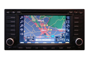 VW Touran 1 - RNS-MFD 2 Navigation Reparatur Displayfehler